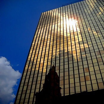 golden reflective glass